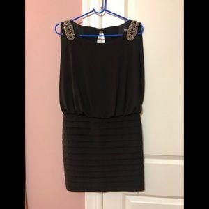 Black Formal Mini Dress